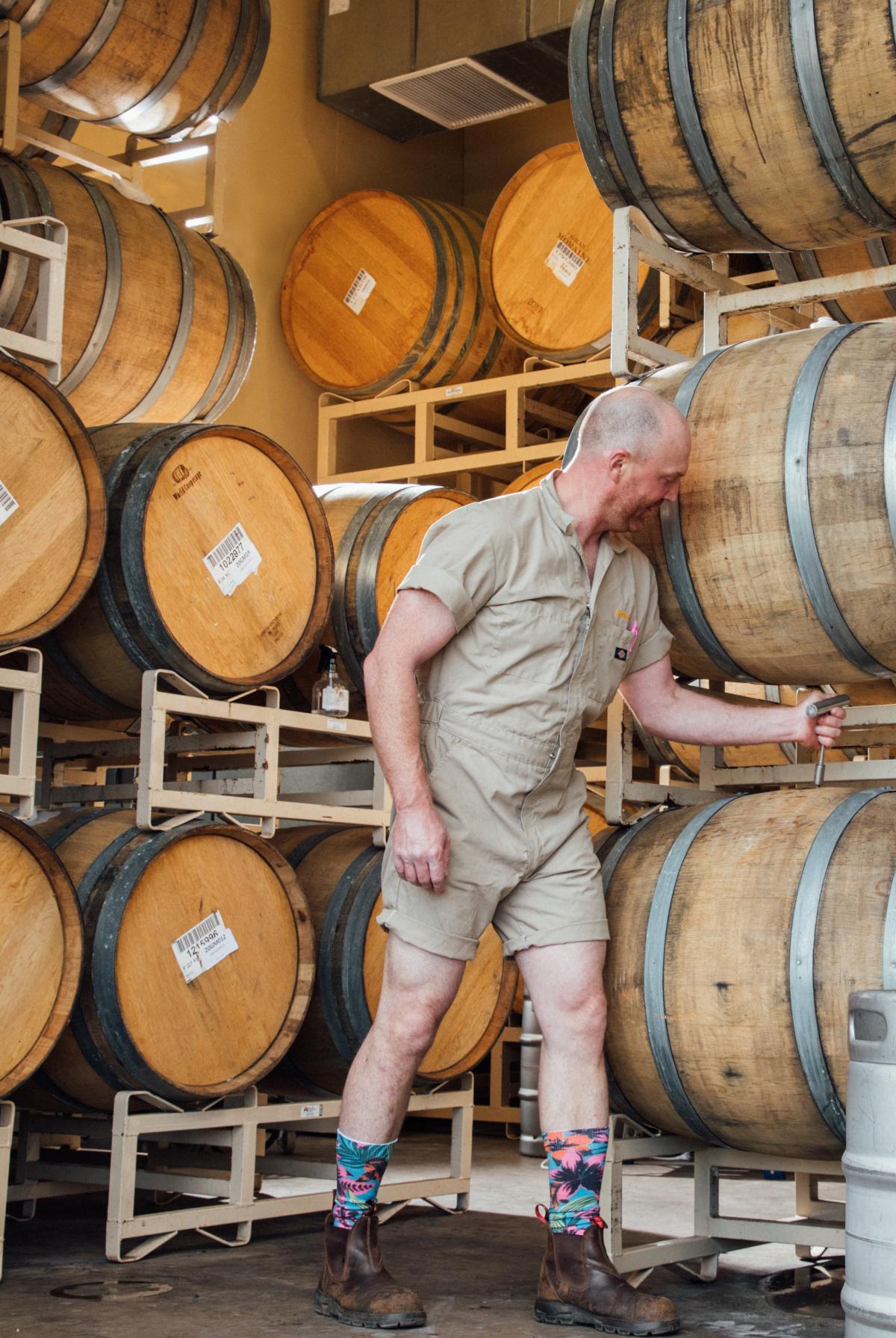 Taking a barrel sample