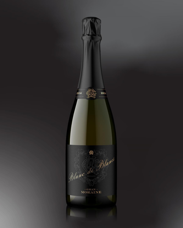 Gran Moraine Blanc de Blancs bottle shot