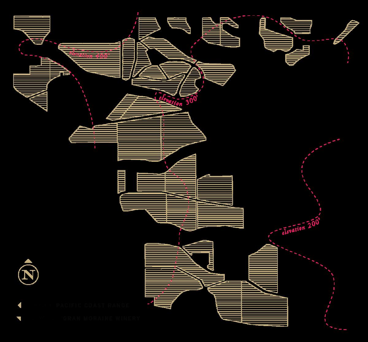 Pinot Noir Blocks Map